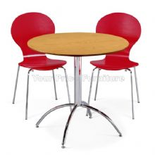 Kimberley Dining Set Natural Table & 2 Red Chairs 1/2 Price Deal